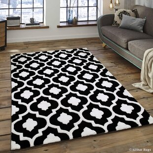 Bargain Handmade Black Area Rug By AllStar Rugs