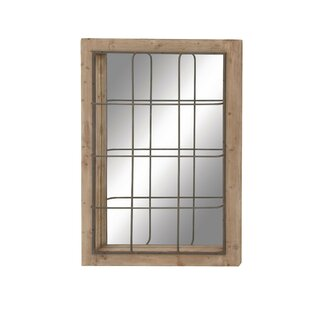 Cole & Grey Wood and Metal Wall Mirror
