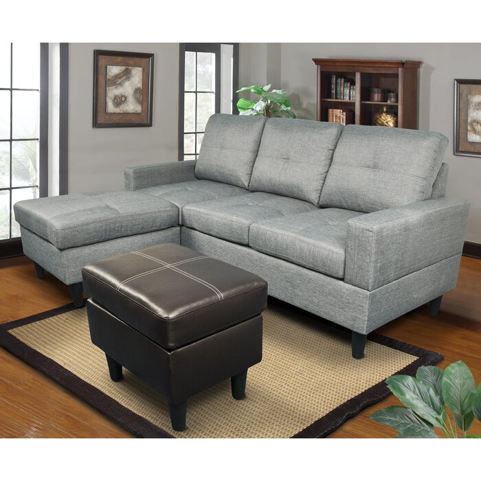 Superb Ava Reversible Right Hand Facing Sectional With Ottoman Squirreltailoven Fun Painted Chair Ideas Images Squirreltailovenorg