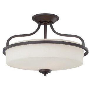 Stewartstown Modern 3-Light Semi-Flush Mount by Three Posts