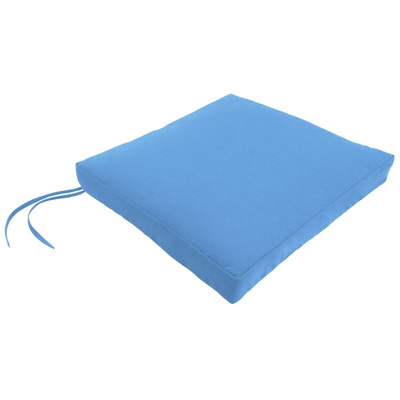 Indoor/Outdoor Square Dining Chair Cushion With Ties