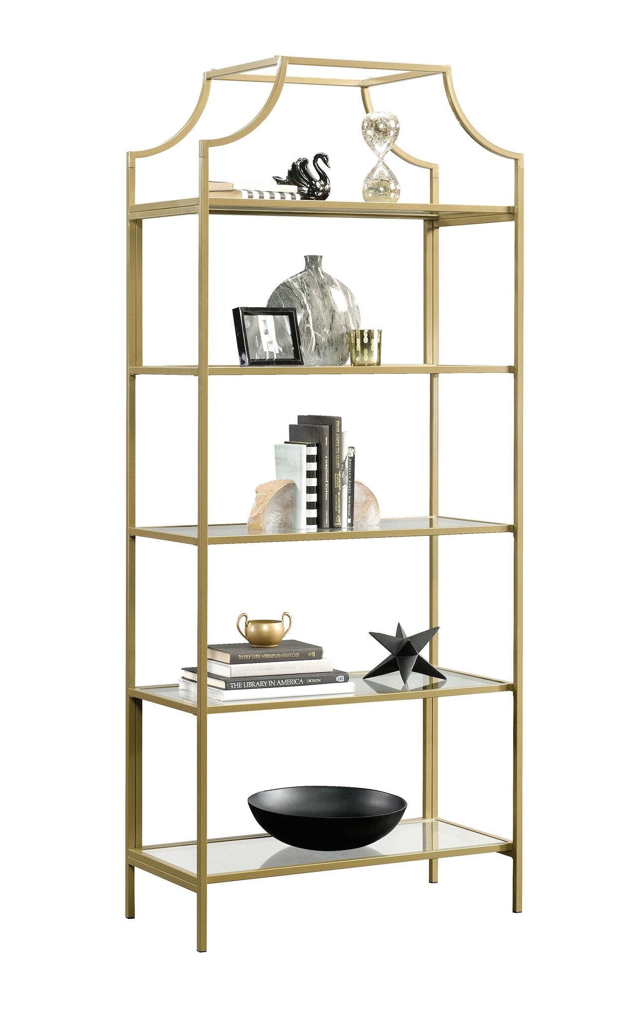 12d399e4a49b Modern Gold Bookcases   AllModern