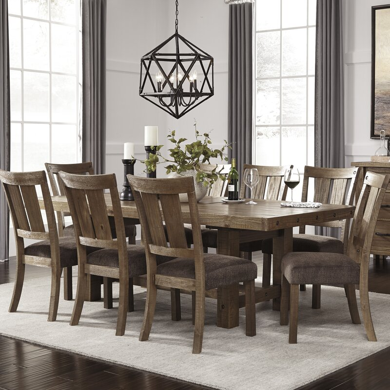 9 Piece Formal Dining Room Sets: Loon Peak Etolin 9 Piece Dining Set & Reviews