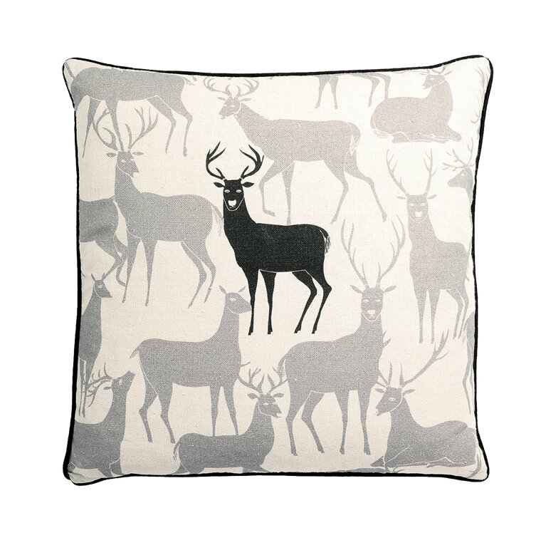 Loon Peak Bentonville Reindeer Square Pillow Cover And Insert Reviews Wayfair