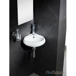 lavabo en cramique de 17 po dangle modern