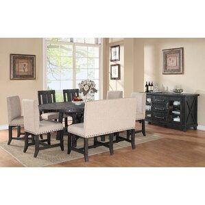 Gaudette Industrial 8 Piece Dining Set by Gracie Oaks