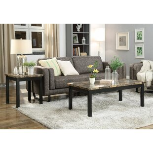Union Rustic Tarver 3 Piece Coffee Table Set
