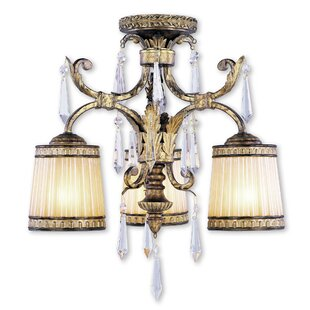 Perot 3-Light Semi Flush Mount..