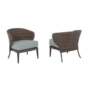 Tacoma Patio Chair with Cushions (Set of 2)