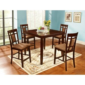 5 Piece Counter Height Dining Set by Nathaniel Home