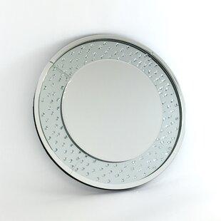Rosdorf Park Sienna Crystal Glass Wall Mirror