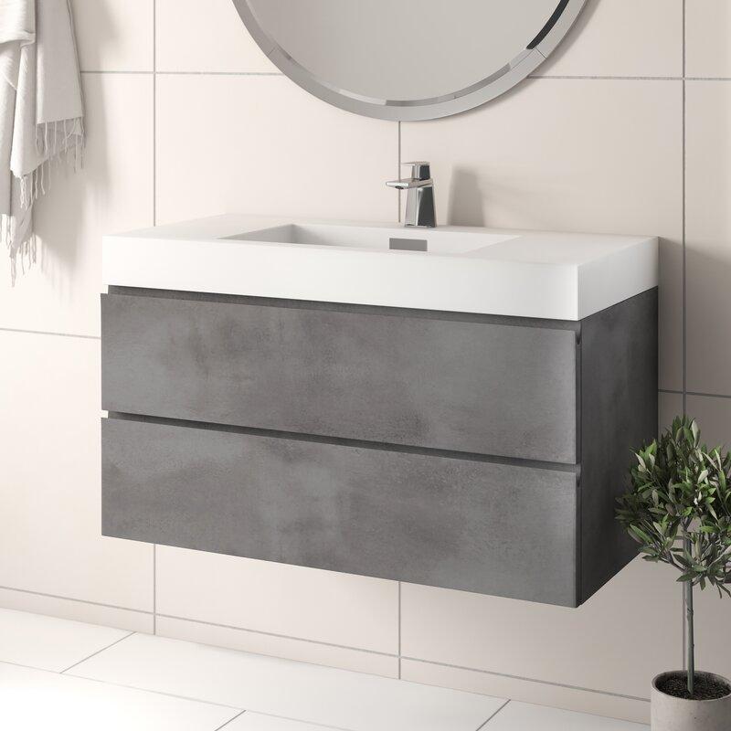 Isabela 39 25 Wall Mounted Single Bathroom Vanity Set Reviews Allmodern