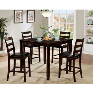 Matisse Transitional 5 Piece Counter Height Dining Set