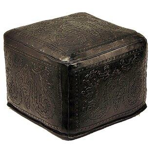 Navarette Leather Pouf