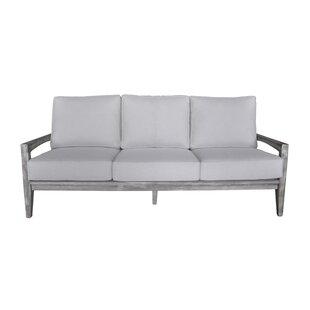 Gracie Oaks Jessica 5 Piece Teak Sofa Set with Cushions