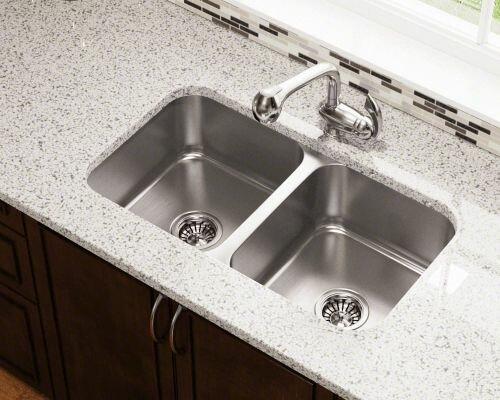 31 75 L X 18 W Double Bowl Undermount Stainless Steel Kitchen Sink