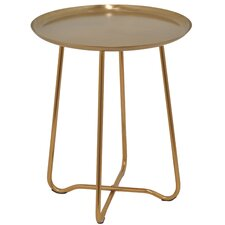 Round Metal End Table by Three Hands Co.