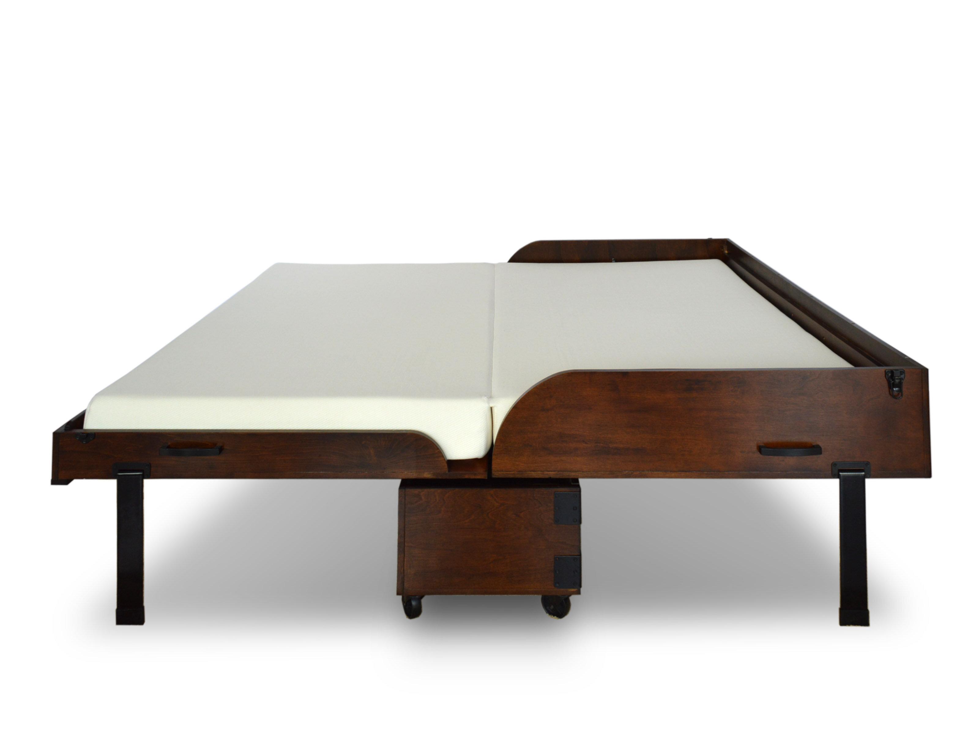 roomandloft rolling queen storage murphy bed with mattress reviews