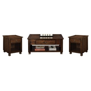 Winston Porter Colman 3 Piece Coffee Table Set