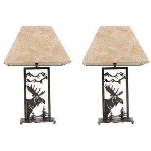 Moose lamps wayfair moose die cut 16 table lamp set of 2 aloadofball Gallery