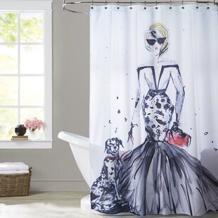 Malta Sassy Spots Single Shower Curtain