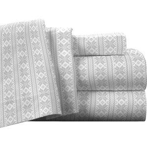 Fair Isle 100% Cotton Flannel Sheet Set