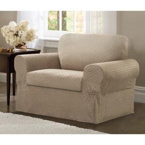 2 Piece Chair Box Cushion Slipcover Set