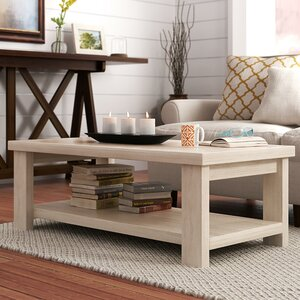 Hiland Park Coffee Table with Magazine Rack by Beachcrest Home