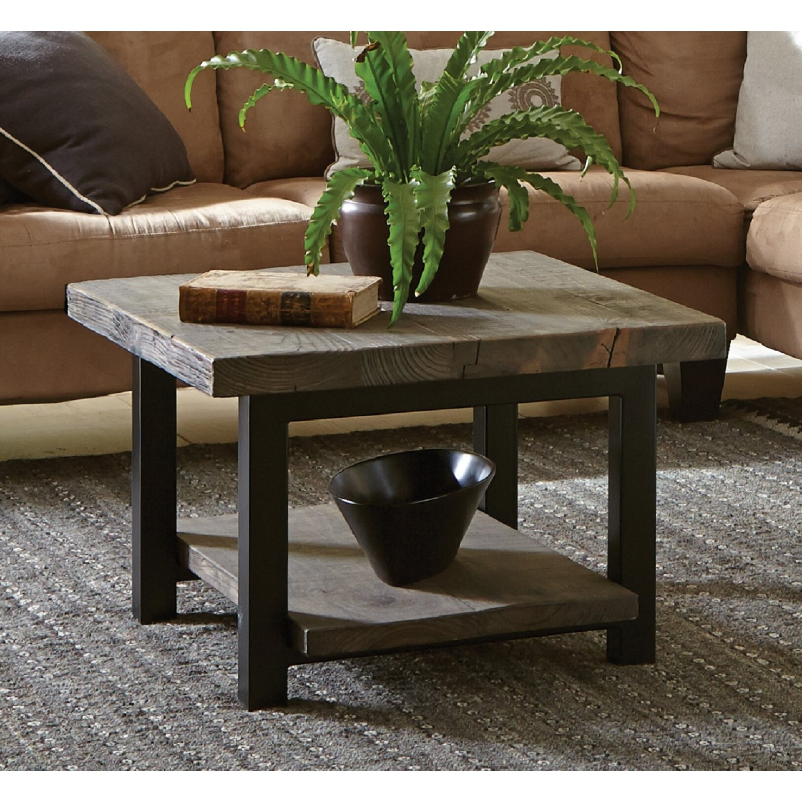 "Versailles Square Coffee Table: Loon Peak Somers 27"" Reclaimed Wood Square Coffee Table"