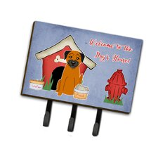 Dog House Border Terrier Leash or Key Holder by Caroline's Treasures