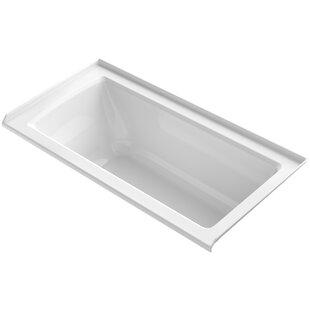 Kohler Archer Alcove Bath with Bask™ Heated Surface, Tile Flange and Rig..