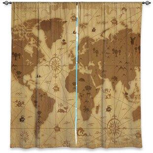 world map curtains wayfair