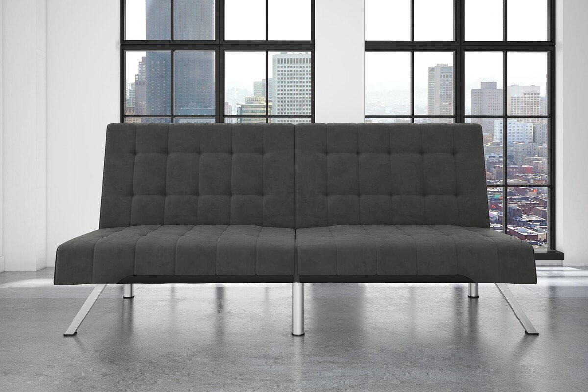 Image of Littrell Velvet Convertible Sofa up to 48% off