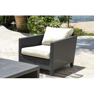 Panama Jack Outdoor Onyx Patio Chair with..
