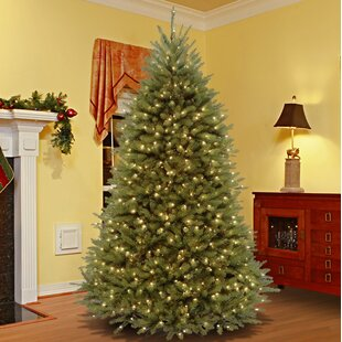 green fir artificial christmas tree with 650 lights colored and white lights with stand