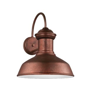 Vallie 1-Light Aluminum Shade Outdoor Barn Light