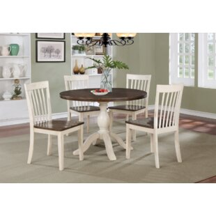 Culbertson 5 Piece Solid Wood Dining Set Ophelia & Co.