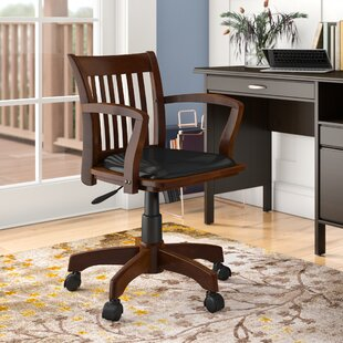 Genevieve Mid-Back Deluxe Bankers Chair By Three Posts