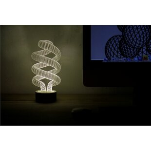 Spiral LED Illusion 9 Table Lamp