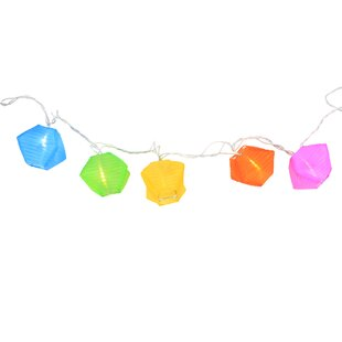 9.5 ft. 10-Light Colorful Novelty String Lights
