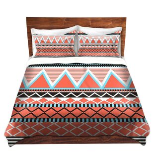 Union Rustic Bowes Organic Saturation Coral Tribal Microfiber Duvet Covers