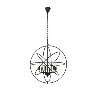 Brayden Studio Hamby 6-Light Globe Chandelier