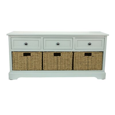 Ardina Wood Storage Bench Color: Antique Iced Blue by Beachcrest Home