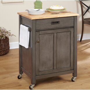 Jonesville Kitchen Cart with Butcher Block Top Gracie Oaks
