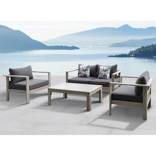 Gueliz 4 Piece Conversation Set with Cushions by Ove Decors