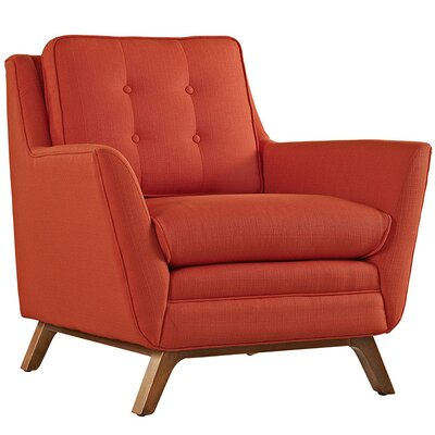 George Oliver Binder Armchair Upholstery: Atomic Red