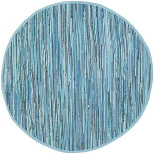Hatteras Handwoven Cotton Blue Area Rug by Beachcrest Home