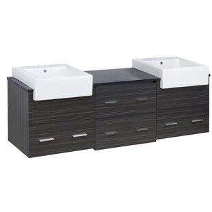 Basford 74 Double Bathroom Vanity Set