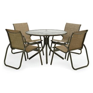 Latitude Run Maust 5 Piece Dining Set with Cushions