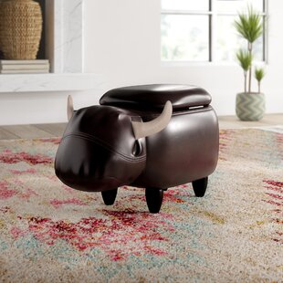 Cian Cow Storage Ottoman by Mistana